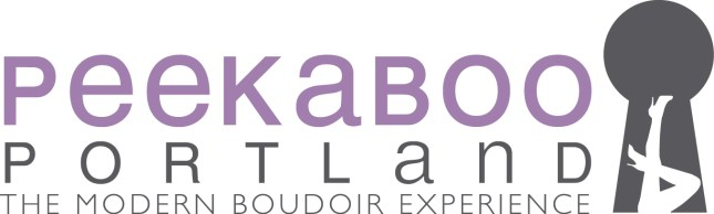 New logo of Peekaboo Portland Boudoir Photography