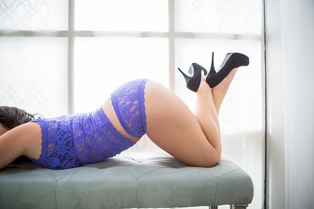 Miss J - Peekaboo Portland Boudoir Photography