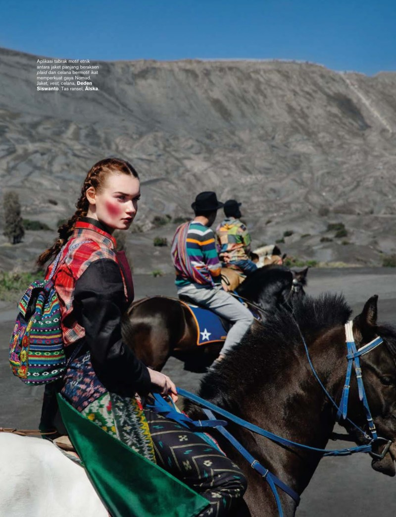 www.pegasebuzz.com | Kseniya Shapovalova by Nicoline Patricia Malina for Harper's Bazaar Indonesia, september 2014