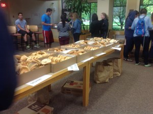 Hundreds of Bagels