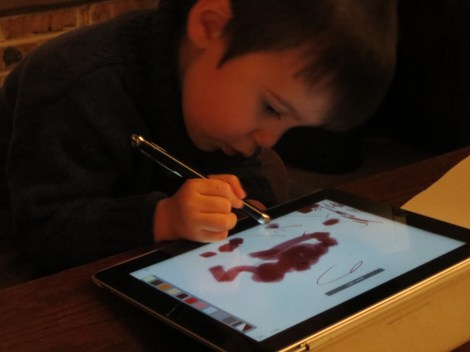 "Mr 2 using ""special pen on iPad"""