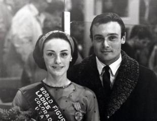 Peggy Fleming and Bob Paul