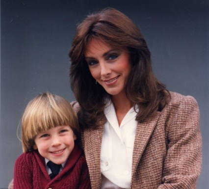 Peggy Fleming with Son, Andy