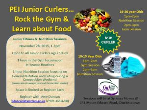 Reminder: Junior Fitness and Nutrition Session