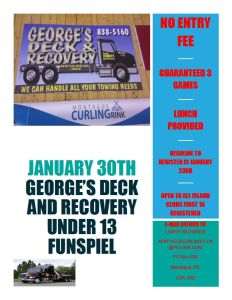 George's Deck U13 spiel is on today