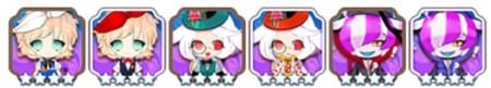 ■グループ4.38 ふしぎのくにぐらし! ■キャラ:アリス(アイリス)、白ウサギ(ほうせんか)、チャシャ猫(ホオズキ)