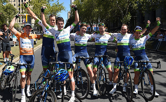 Simon Gerrans on stage 6 of the 2016 Tour Down Under