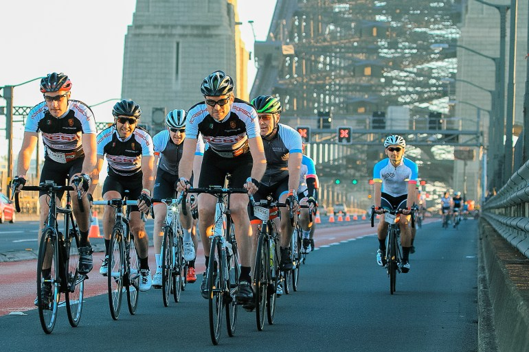 The Spring Cycle takes riders over some of the most iconic sights in Sydney! Credit: Spring Cycle