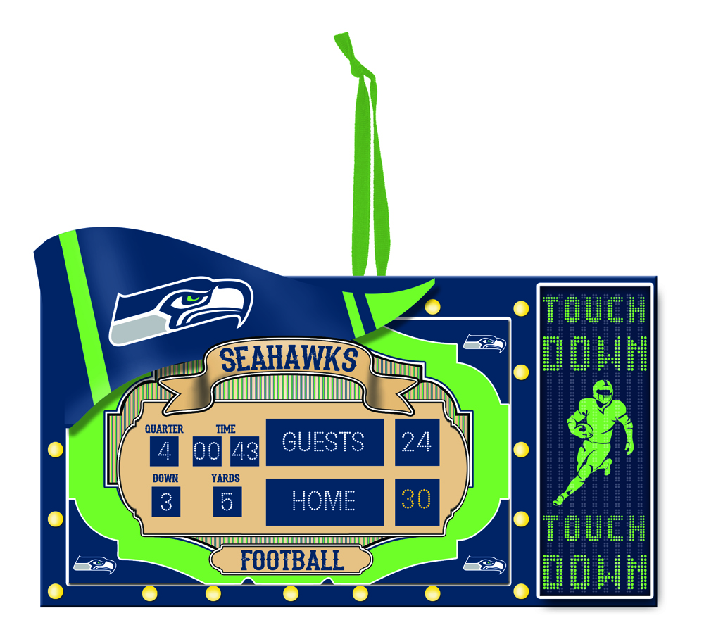 Seattle Seahawks Scoreboard Polystone Ornament