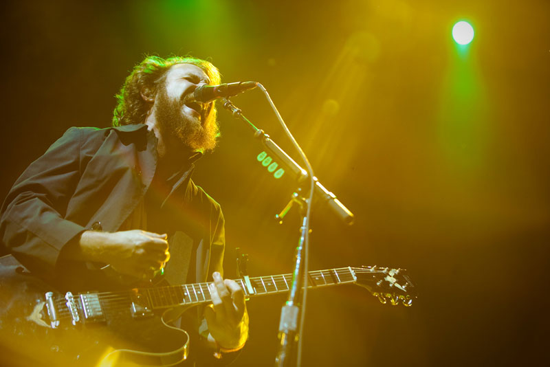 My Morning Jacket frontman Jim James in performance at the 2010 Sasquatch Music Festival at the Gorge Amphitheater (Photo by Christopher Nelson).