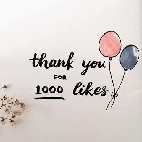 We've reached 1000 likes on Facebook and counting!