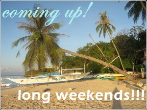 long weekends list for 2013