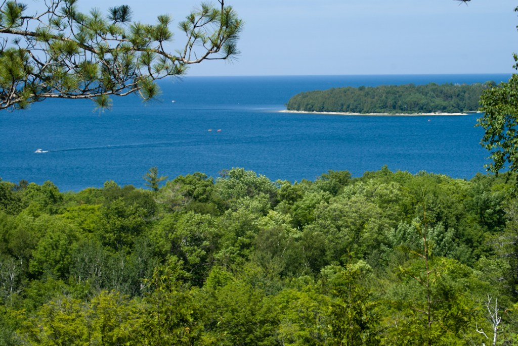 Horseshoe Island from Skyline Road