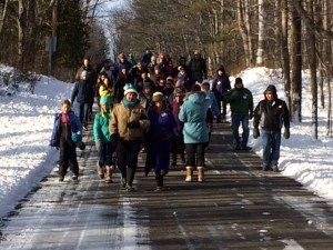 On the trail for the 2016 First Day Hike. Photo by Kelli Bruns