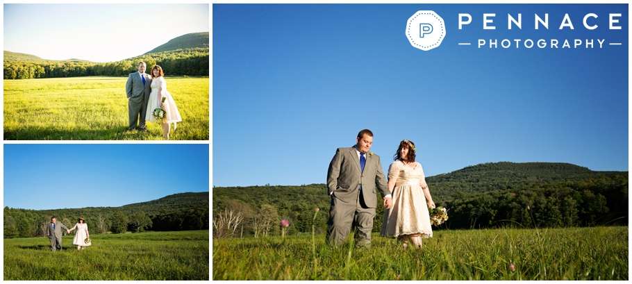 farm wedding in the mountains of new york