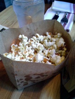 Popcorn infused with rosemary olive oil and bacon: It's popcorn so it's still sort of good for you, right?