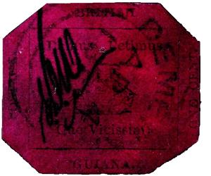 british guiana 1856 1c stamp