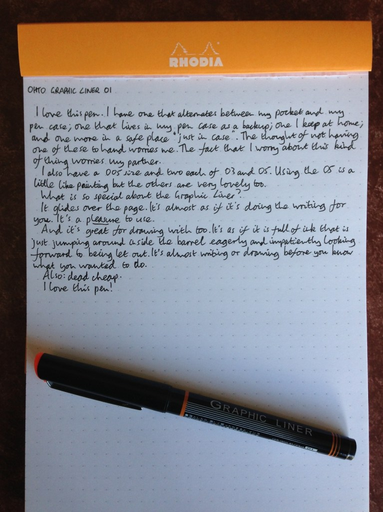 OHTO Graphic Liner pen review