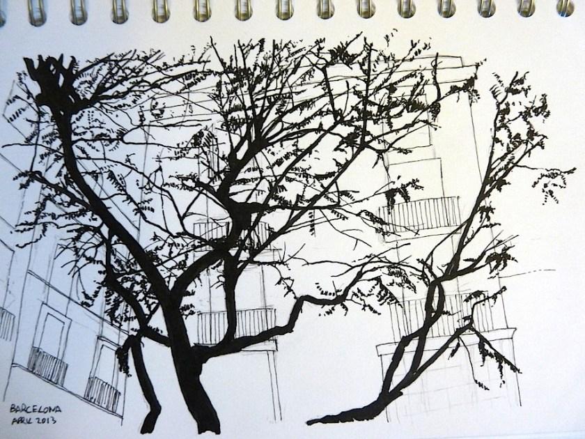 Barcelona April 2013 ink sketch