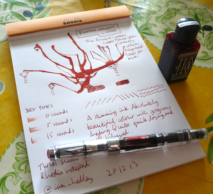 Diamine Ancient Copper ink review