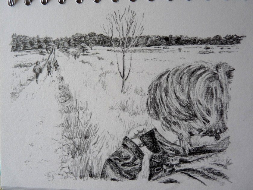 Winter Walk sketch