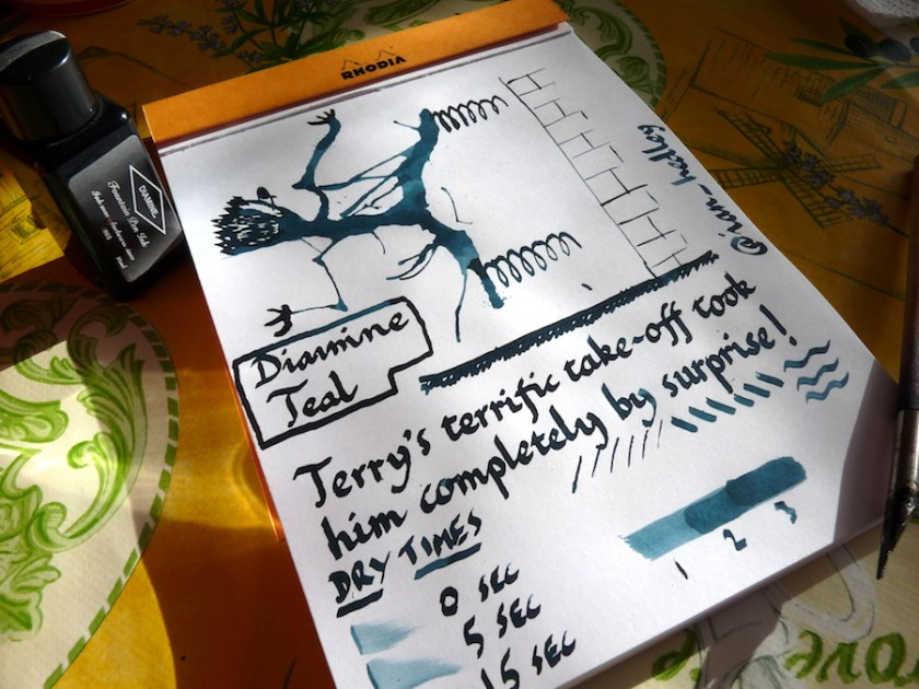 Diamine Teal ink review
