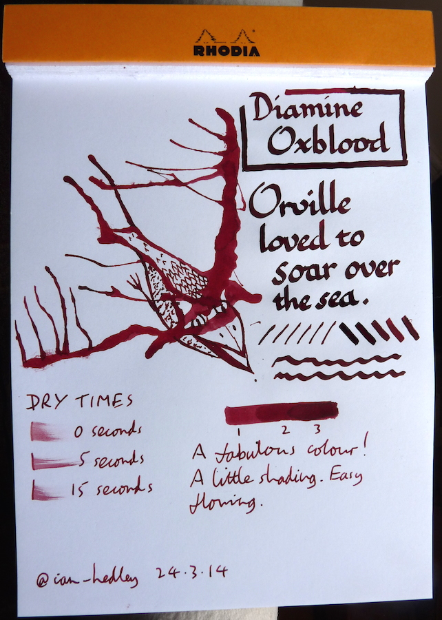 Diamine Oxblood Inkling doodle
