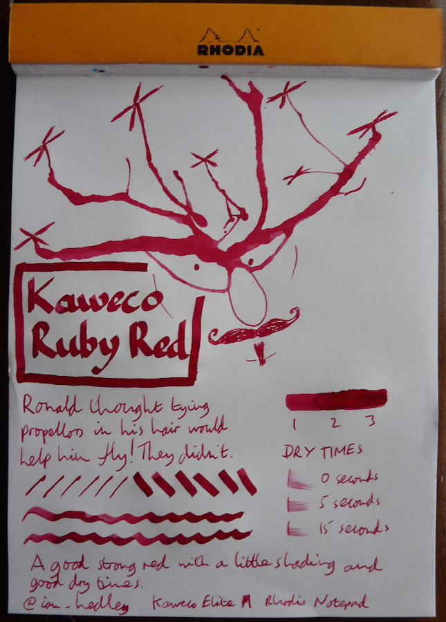 Kaweco Ruby Red Inkling doodle