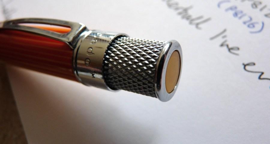 Retro 51 Tornado rollerball pen end