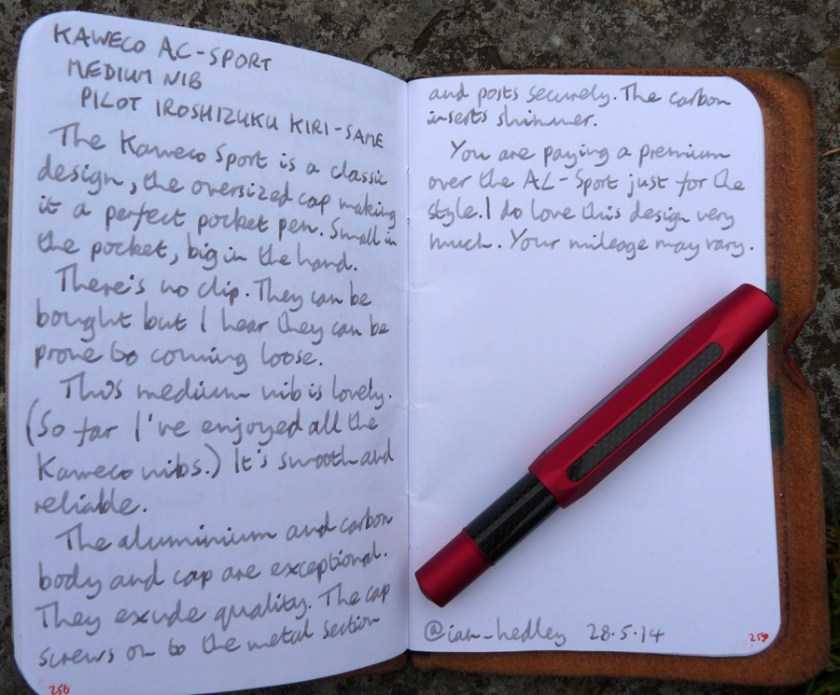 Kaweco AC-Sport fountain pen handwritten review
