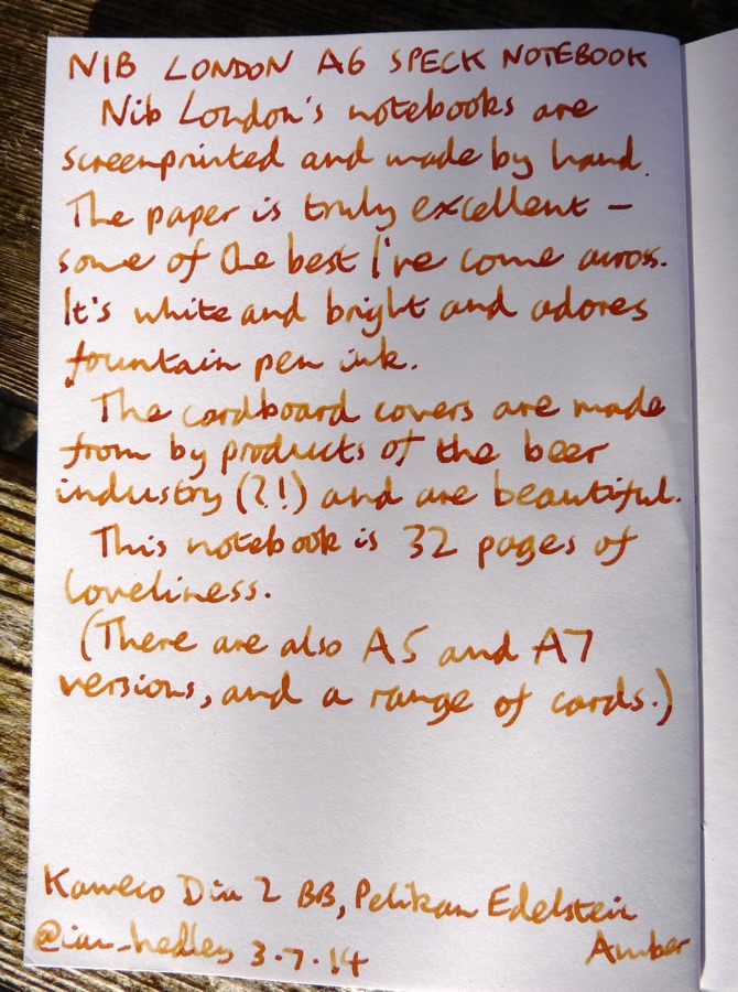 Nib London notebook handwritten review