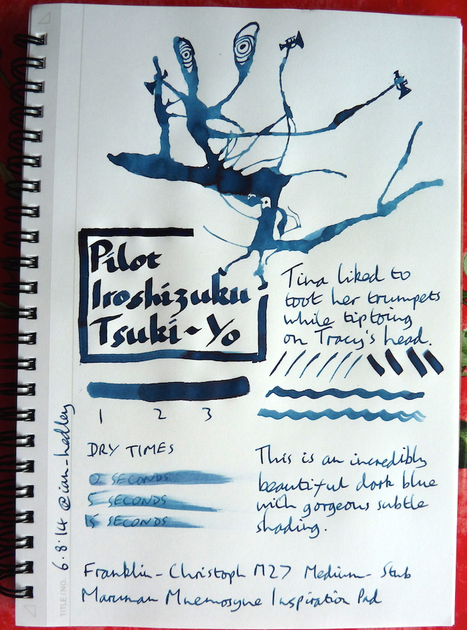 Pilot Iroshizuku Tsuki-Yo Inkling doodle
