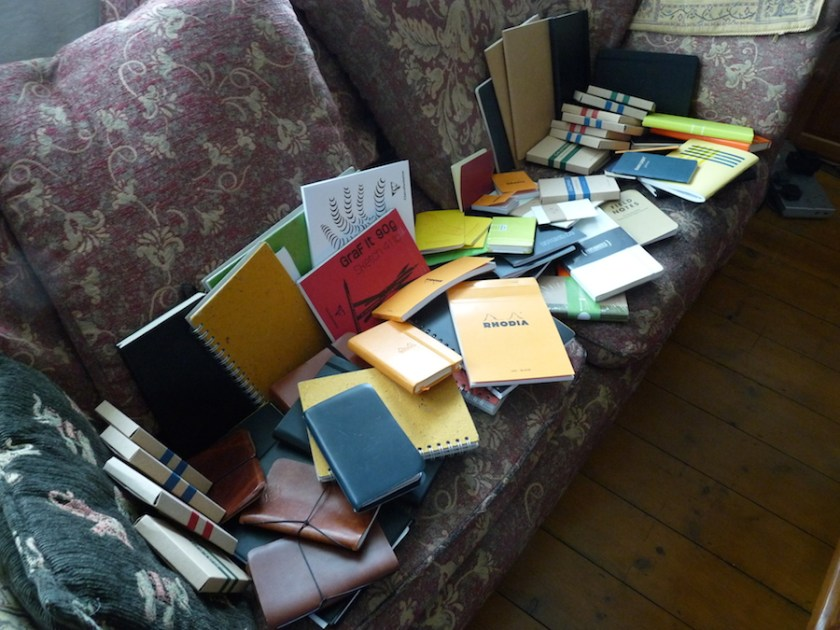 Lots of notebooks