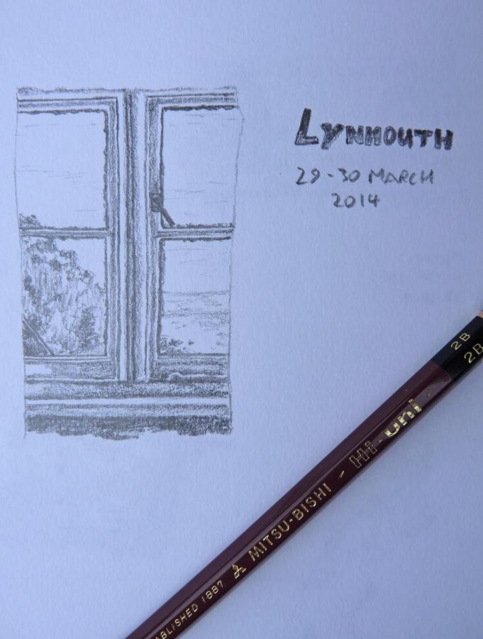 Mitsubishi Hi-Uni pencil sketch example