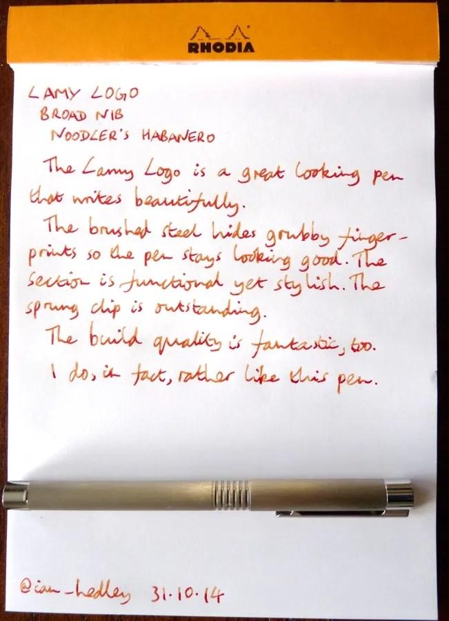 Lamy Logo handwritten review