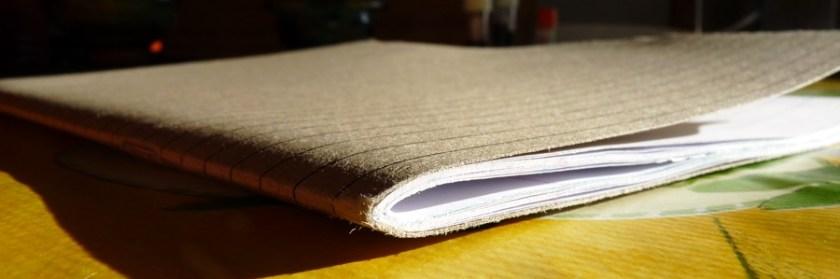Inspiration Pad notebook edge on