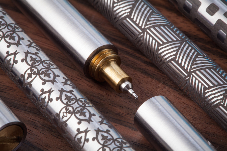 edc-ink detail tip and laser engraving options