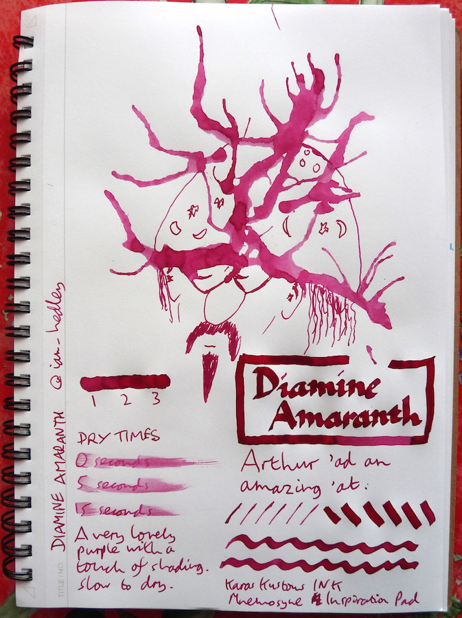 Diamine Amaranth Inkling review