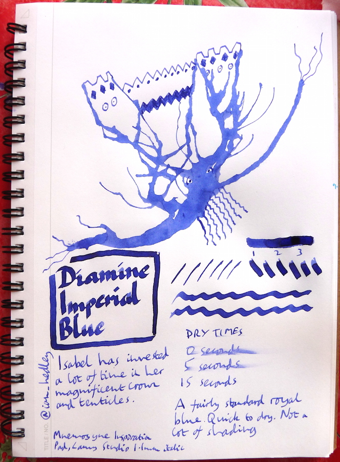 Diamine Imperial Blue Inkling doodle