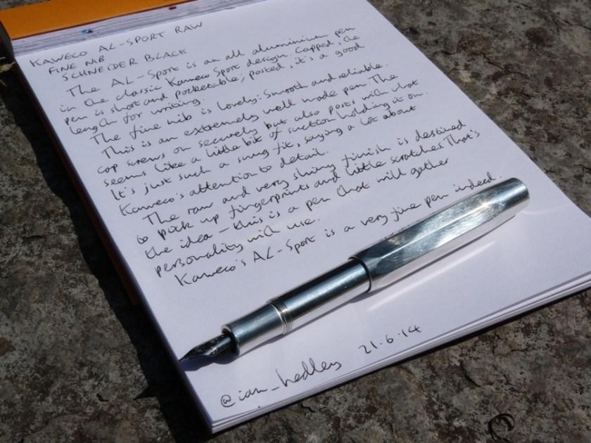 Kaweco AL-Sport fountain pen review