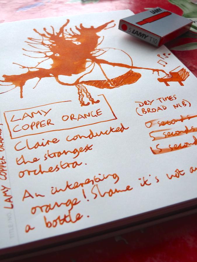 Lamy Copper Orange ink review