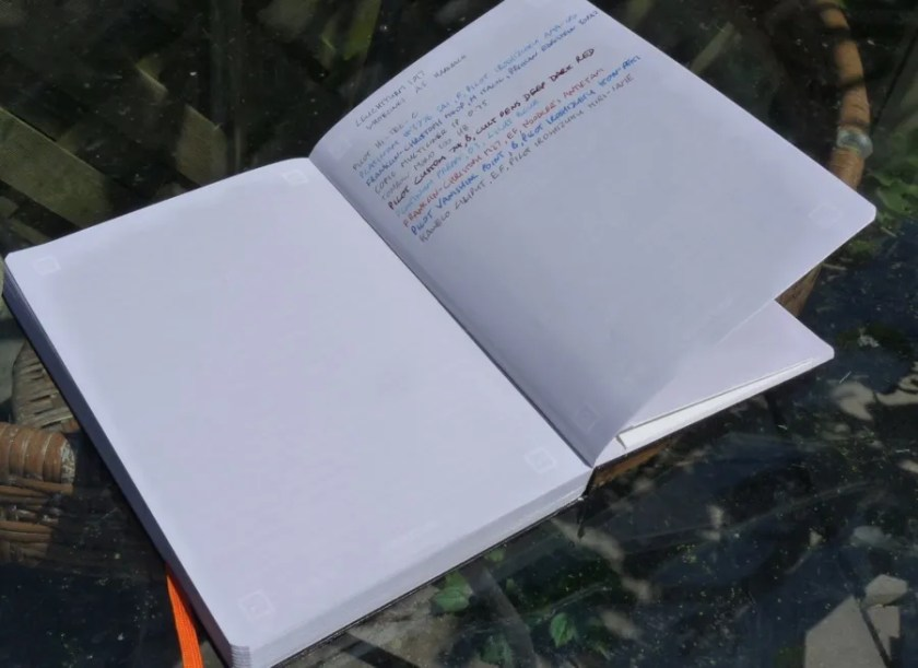 Leuchtturm1917 Whitelines open pages showing markings