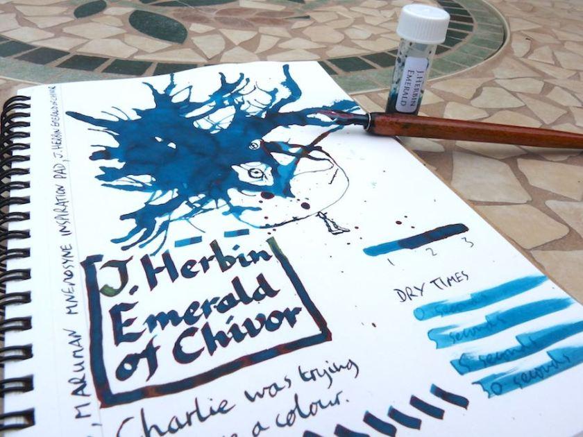 J Herbin Emerald of Chivor ink review
