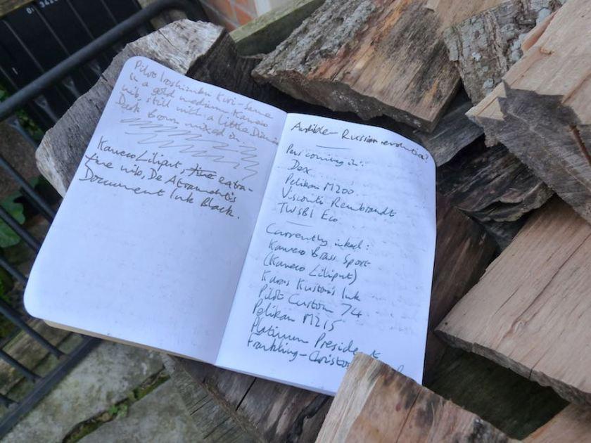 Field Notes Kraft pen notes