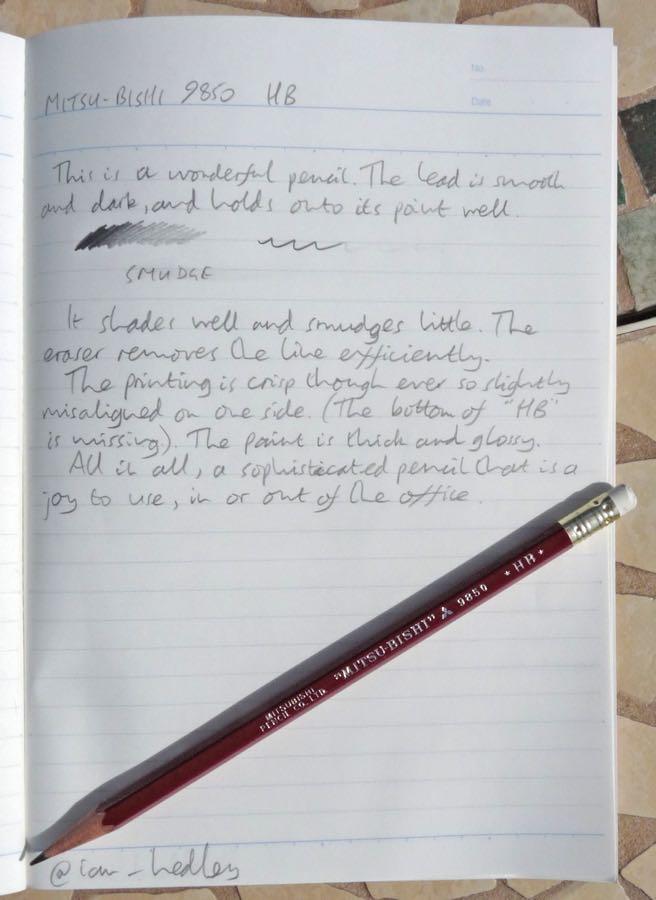 Mitsu-Bishi 9850 handwritten review