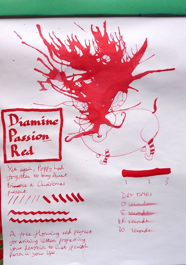 Diamine Passion Red Inkling