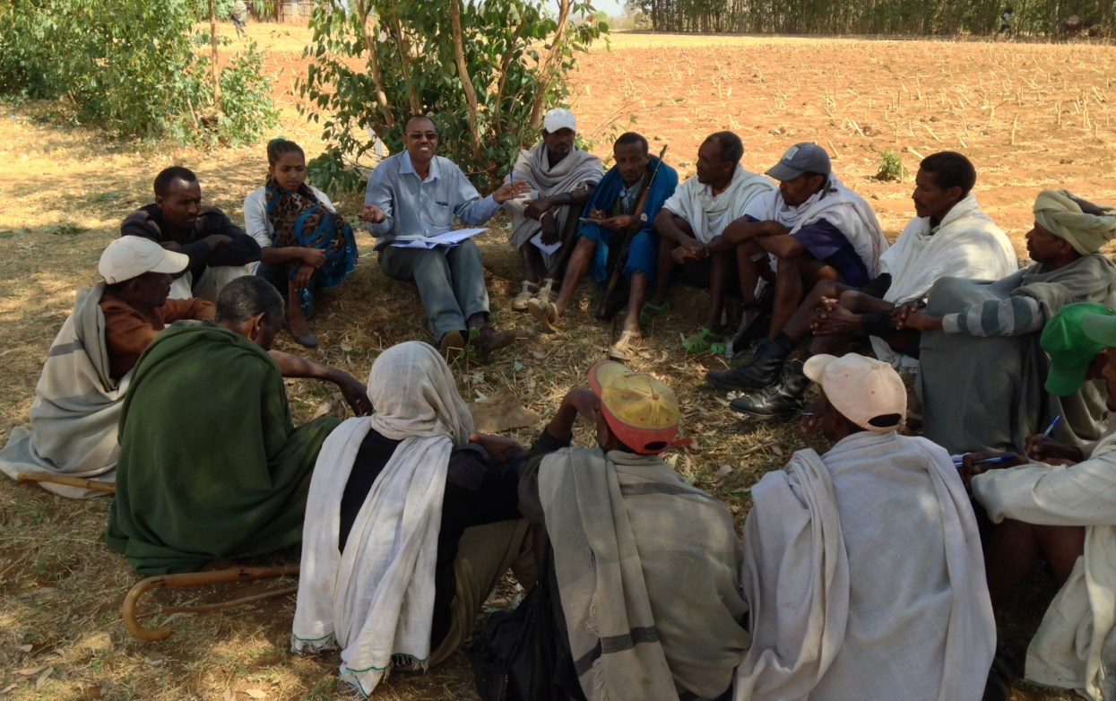 WLRC Researchers engaging Aba Gerima farmers