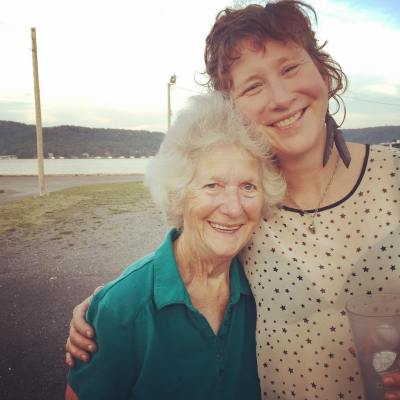 Cara with Dorris Turner, 75, whose father was a steamboat captain in Guntersville