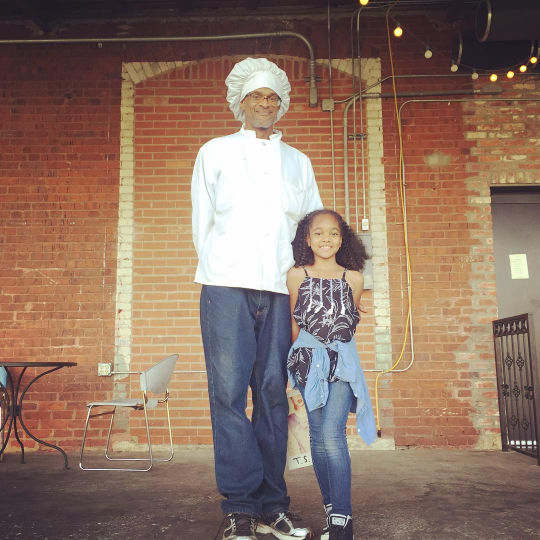 Chef Forest Wilson and daughter Yasmin who run a vegan & veggie food truck at Lowe Mill in Huntsville