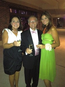 Alex and her parents, Allen and Cindy, at the Friends of Prentice Gala—another client of hers!